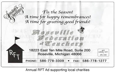 RFT Holiday Greeting Advertisment